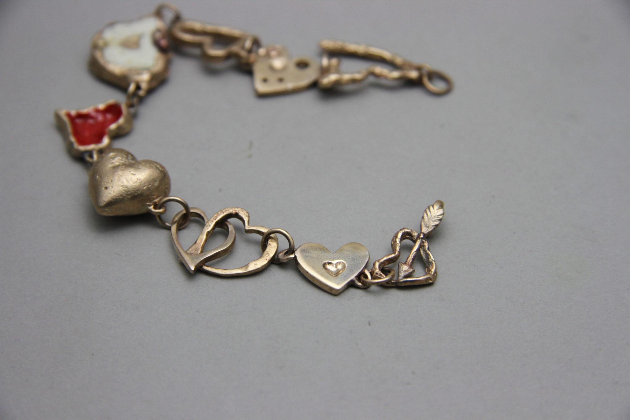 """""""La Freccia di Cupido"""" Bracciale artigianale donna in Bronzo o Argento 925, fatto a mano"""