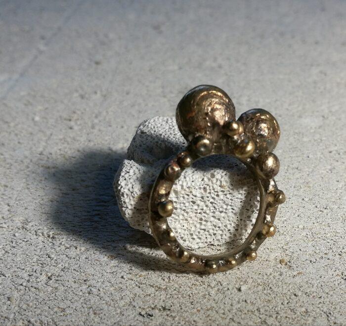 """""""Galassia"""" Anello donna artigianale fatto a mano in Bronzo o Argento 925"""