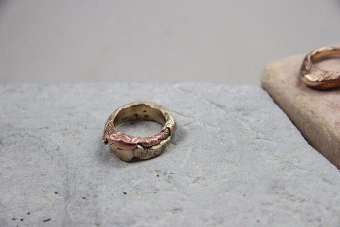 """Eterno"" Anello artigianale unisex in Bronzo/Rame o Argento 925/Bronzo/Rame, fatto a mano"