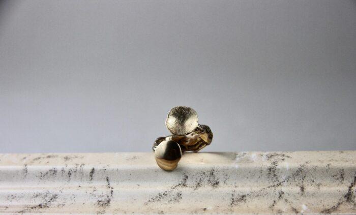 """""""Poli Opposti"""" Anello regolabile donna artigianale, fatto a mano in Bronzo o Argento 925"""