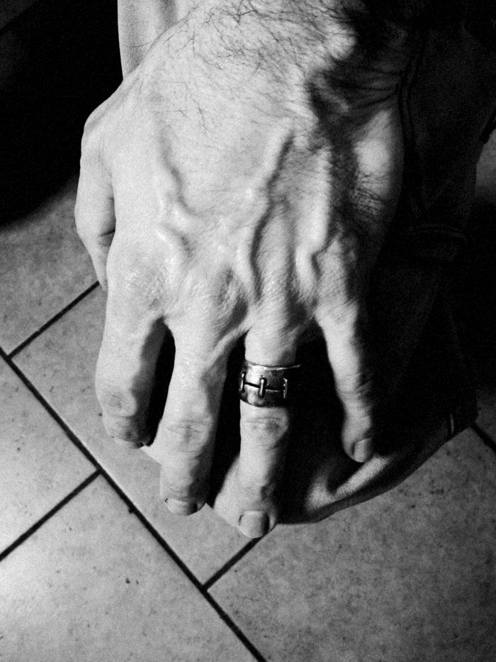 """""""RESILIENZA"""" Anello artigienale unisex in Argento e fili in Bronzo. Fatto a mano"""